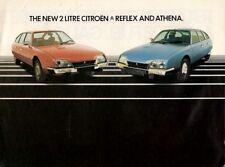 Citroen CX Reflex & Athena 1979-80 UK Market Sales Brochure