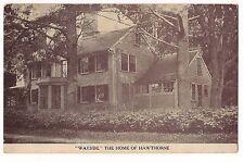 WAYSIDE the Home of Hawthorne Salem MASSACHUSETTS SEPIA  POSTCARD MA  FREE Ship
