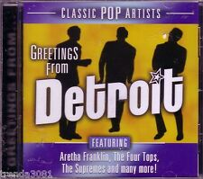 Greetings from Detroit V/A CD Classic 50s 60s Rock Temptations Marvin Gaye New