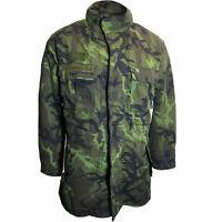 Army Coat CZECH WINTER CAMO PARKA All Sizes Camouflage Surplus Zip Hood Liner
