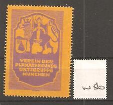 CINDERELLA -W56- GERMANY - VEREIN DER PLAKATFREUNDE ORTSGRUPPE - MUNCHEN
