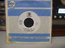 THE NATURAL FOUR  Northern Soul PROMO 45  STEPPING ON UP   RARE White Label