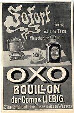 Compie LIEBIG OXO Bouillon broches histor. annonce 1907