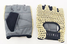 AIRIUS MESH CYCLING GLOVES IN WHITE/TAN, SIZE EXTRA LARGE