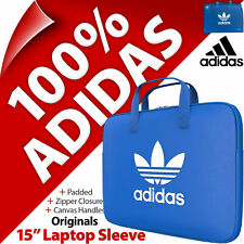 """adidas 15"""" Laptop MacBook Sleeve Padded Faux Leather Case Cover with Handles"""