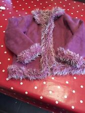 Magnifique Fille En Daim Synthétique Violet Manteau du prochain âge 8 ans