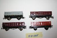 Piko 4 Hochbordwagen Güterwagen Spur H0 a.f. Fleischmann o. Roco
