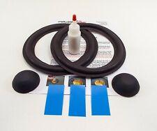 """BOSE 301 series I II III 8"""" Woofer Refoam Kit -Speaker Foam w/ Correct Dust Caps"""