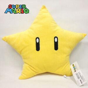 """New Super Mario Bros. Super Star Plush Soft Toy Stuffed Animal Doll Teddy 12"""""""