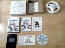Wii mario kart the disc is excellent UK pal with official steering wheel