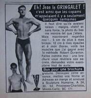 PUBLICITÉ PRESSE 1971 SCULPTURE HUMAINE MÉTHODE ROBERT DURANTON - ADVERTISING