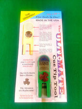 NEW ORIGINAL ULTIMATE TIP TOOL - GREEN ULTI-MATE POOL CUE TIP SHAPER SCUFFER