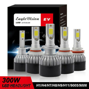 2x Car H7/H4/H11/H1/9005/9006 300W 12000LM Cree LED Headlight 6500K Bulbs
