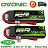 2X OVONIC 2200mAh 11.1V 25C 3S Lipo Battery Deans Plug For RC Drone FPV Airplane