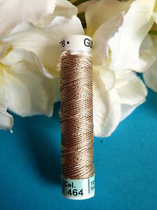 269B / Beautiful Coil Pure Wire Silk Drawstring Gutermann Beige N° 464