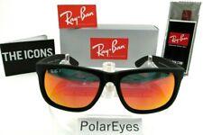 Ray-Ban RB4165 622/6Q Justin Wayfarer Matte Black/Red MirrorSunglasses 54mm