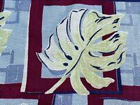 Deco Miami Beach Tropics Barkcloth Vintage Fabric Drape Curtain Mid Century 40s