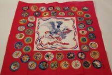 Vintage Bicentennial Bananda Head Wrap Handkerchief States