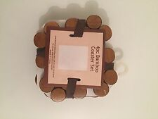 Coaster Set of 4 Bamboo Under Cups good for office House