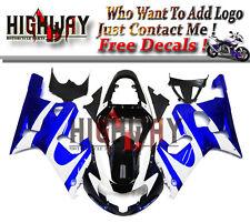 Fairings For Suzuki GSXR600 750 2000-2003 ABS Fairing Kit Bodywork Black White r