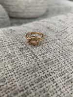 Morganite Gold Ring Size 6.75 Plated
