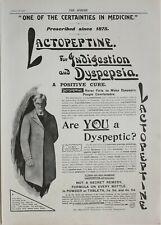 1901 Imprimé Annonce Annonce Lactopeptine Indigestion Dyspepsie