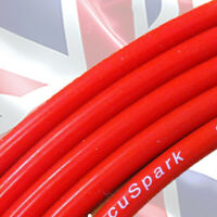 8mm Red Double Silicone Carbon Ignition HT lead, wire on roll , sold per Meter