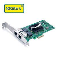 Intel 82576 Chip Gigabit Network Adapter (Nic), Dual RJ45 Port, as E1G42ET in US