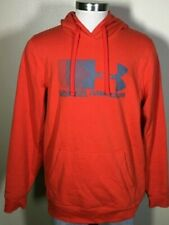 Under Armour Protect This House Orange-Red Hooded Sweatshirt Hoodie Men's Large