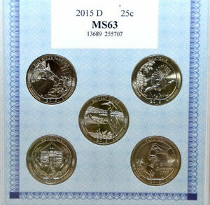 American Alliance Coin Set of 5 2015 D Quarters