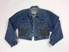 Top jacket jeans L denim giacca giacchetta giubbino giubbotto donna bomber T2603
