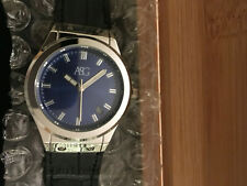 ASG BLUE & CHROME WATCH BLUE STRAP WITH DATE DISPLAY NEW