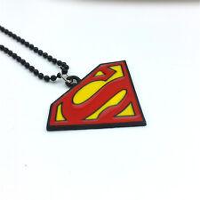 Fashion Charm Men's Girl Superman Pendant Drip Oil Alloy Pendant Necklace
