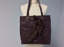 Lipsy Large Purple Bag with Scarf Tie Detail - Free Post!