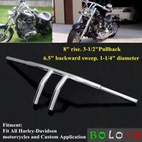 Stainless Steel 1Inch Drag Bar Handlebar For Harley XL Sportster 883 /&1200 Black