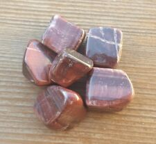 RED TIGER EYE TUMBLED STONE (1) MEDIUM/LARGE NATURAL TUMBLE STONE
