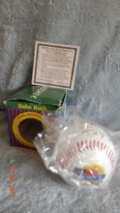 BABE RUTH 100TH ANNIVERSARY COMMEMORATIVE EDITION BASEBALL w/CERTIFICATE YANKEES