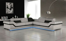 Ecksofa Sofa Couch Polster Wohnlandschaft Leder Eck Sofas Garnitur L Form NYI