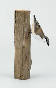 Archipelago Hand Carved Wooden Birds Nuthatch