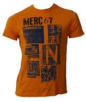 T-shirt Maglia Maniche Corte MERC London 100% Cotone Uomo Men Arancio Orange 171