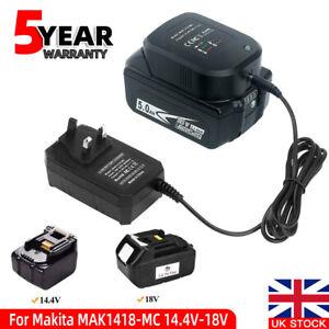 Charger For Makita BL1830 BL1815 BL1860 BL1850 BL1840 BL1445 18V Li-ion Battery