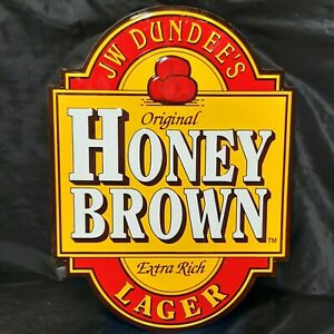 Metal Wall Sign JW Dundee's Honey Brown Lager Beer Highfalls Brewing Bar 16 x 21