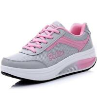 New Women tennis Sports shape up Breathable Shoes Running Platform Sneakers Chic
