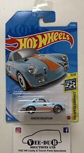 Hot Wheels Porsche 356 Outlaw Blue Gulf 2021 Hotwheels Long Card NEW