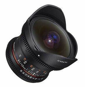 Rokinon Cine DS 12mm T3.1 Cine Fisheye Lens for Nikon Digital SLR - DS12M-N
