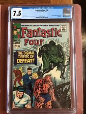 Fantastic Four 58 CGC 7.5 OW Kirby Doctor Doom SWEET New Case
