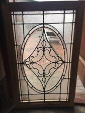 Sg 1524 Antique Landing Window Door Panel 21 3/8 X 43.