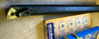 """New 3/4"""" WNMG Boring Bar Lot With 5 KENNAMETAL Carbide Inserts"""