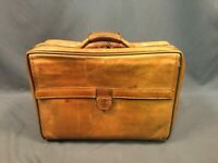 Hartmann Vintage Leather Weekender Overnight Suitcase Business Carryon Luggage