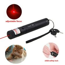 650nm Red Laser Pointer Pen High Power Adjustable Focus Burning Lazer Beam 1mw